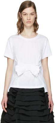 Comme des Garçons Comme des Garçons White Bow T-Shirt $530 thestylecure.com