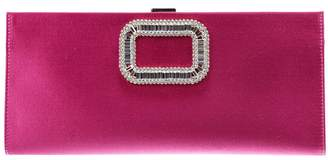 Roger Vivier Clutch Pilgrim Clutch In Satin With Maxi Rhinestone Buckle
