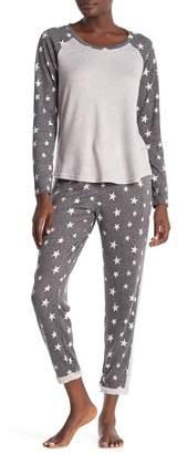 Dearfoams Brush Knit Star Print Joggers