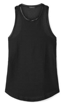 Koral Aerate Satin-trimmed Stretch-mesh Tank - Black