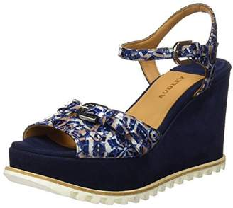 Audley Women's 19595 Platform Sandals, (Blue Azul)