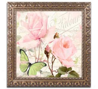 Flora Bella Trademark Global Color Bakery 'Florabella Iii' Ornate Framed Art
