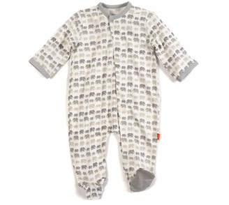 Magnificent Baby Dancing Elephants Modal Magnetic Footie