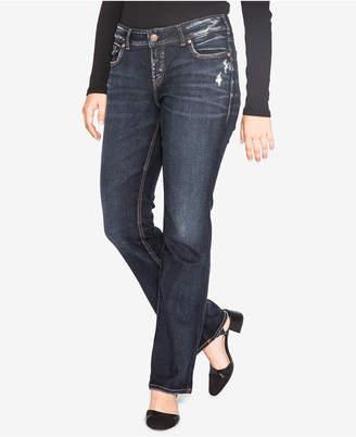 Silver Jeans Co. Trendy Plus Size Elyse Slim Bootcut Jeans