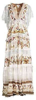 Camilla Women's La Fleur Libertine Olympe Ode Button Up Floral& Lace A-Line Maxi Dress