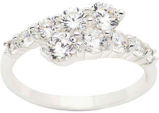 clear SPARKLE ALLURE Sparkle Allure Womens Bypass Ring