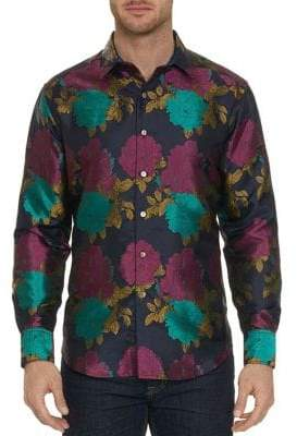 Robert Graham Floral Jacquard Limited Edition Button-Down Shirt