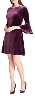 Tommy Hilfiger Velvet Bell-Sleeve Shift Dress