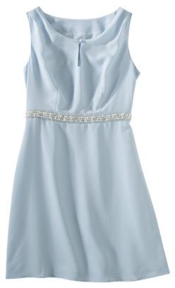 Mossimo Women's Crepe Keyhole Embellished Waist Dress - Assorted Colors