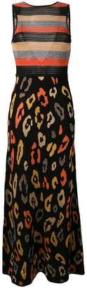 Just Cavalli leopard knit maxi dress