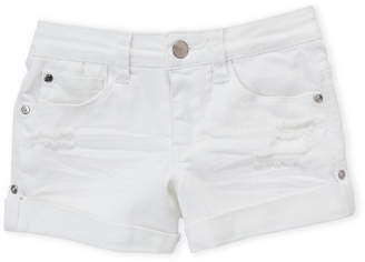 Bebe Girls 7-16) White Cuffed Denim Shorts