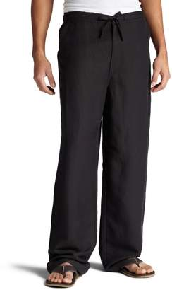 Cubavera Cuba Vera Men's Big-Tall Linen Blend Flat Front Drawstring Pant