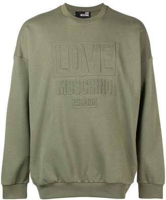 Love Moschino embossed logo sweatshirt