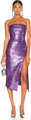 David Koma Sequined Strapless Dress