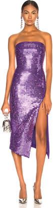 David Koma Sequined Strapless Dress