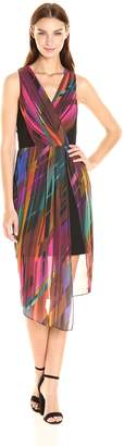 Laundry by Shelli Segal Women's Illusion Crepe Dress