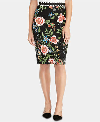 Rachel Roy Floral-Print Pencil Skirt