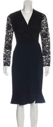 Altuzarra Lace-Accented Sheath Dress