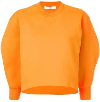 Tibi Tech Poly Sculpted Sleeve sweatshirt