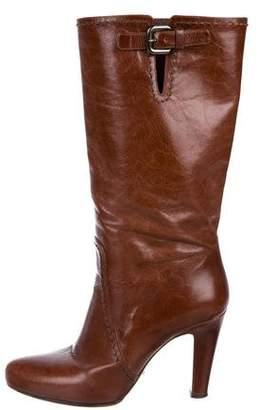 Prada Leather High-Heel Boots