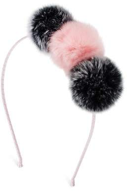 GiGi Girls' Fur Pom-Pom Headband - 100% Exclusive
