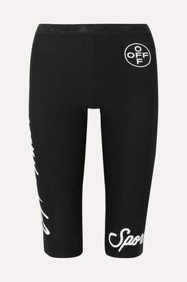 Off-White Printed Stretch Leggings - Black