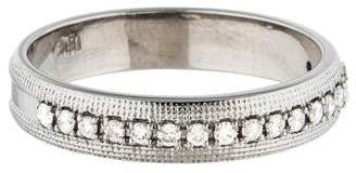 Ring 18K Diamond Textured Half Eternity Band