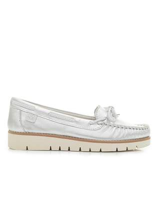 Moda In Pelle Sporty Leather Boat Shoes