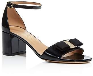 Salvatore Ferragamo Women's Gavina Ankle Strap Block Heel Sandals