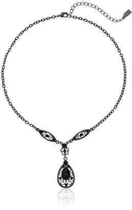 1928 Jewelry Teardrop Filigree Teardrop Necklace