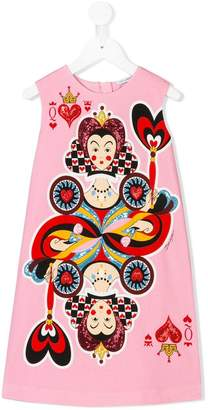 Dolce & Gabbana Queen of Hearts sleeveless dress
