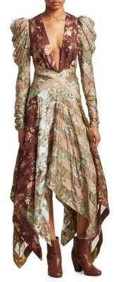 Zimmermann Unbridled Printed Silk Handkerchief Dress