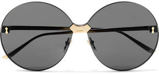 d94f643177a Gucci Round-frame Gold-tone Sunglasses - Gray