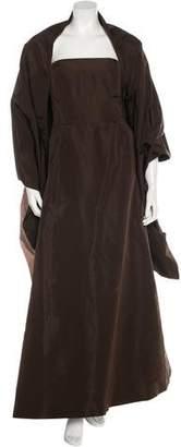 Oscar de la Renta Satin Evening Gown