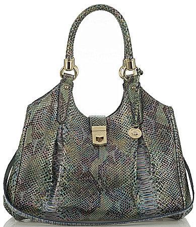 BrahminBRAHMIN Brahmin Seville Collection Elisa Snake-Embossed Hobo Bag