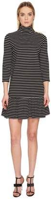Kate Spade Mock Neck Stripe Knit Dress Women's Dress