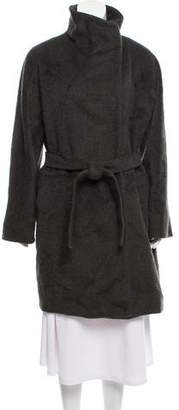 Max Mara Alpaca Mock Neck Coat