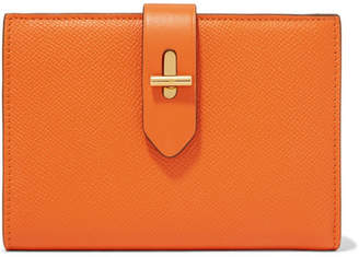 Tom Ford Textured-leather Wallet - Orange