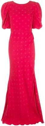 Saloni flared long dress