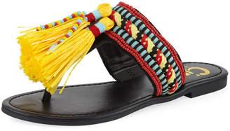 Sam Edelman Bella Embroidered Flat Sandal