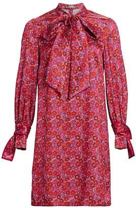Lela Rose Resort Neck Tie Shirtdress