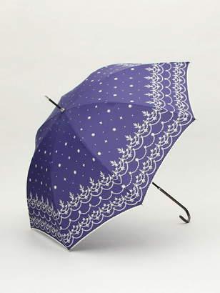 スカラップレース柄長傘 雨傘 アフタヌーンティー・リビング ファッショングッズ
