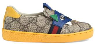 Gucci Toddler GG Supreme sneaker with dinosaur