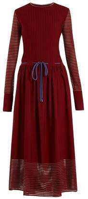 Roksanda Argo Drawstring Dress - Womens - Burgundy