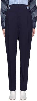 TOGA ARCHIVES Cutout buckled waist wool suiting pants