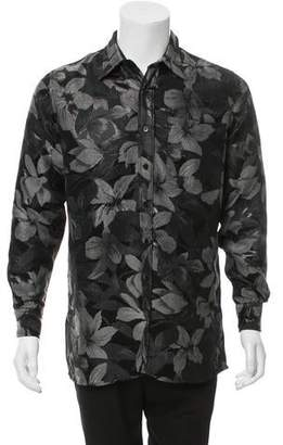 Ami Alexandre Mattiussi Floral Print Button-Up Shirt