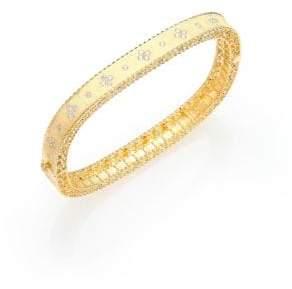 Roberto Coin Princess Diamond& 18K Yellow Gold Bangle Bracelet