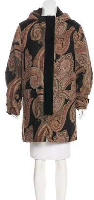 Etro Fur-Lined Knee-Length Coat