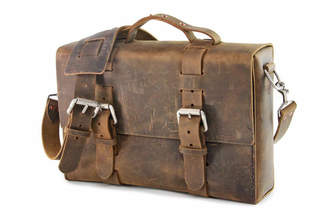 Colsenkeane Leather No. 4313 Crazy Horse Leather Minimalist Satchel