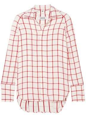 Monse Snap-Detailed Checked Canvas Shirt